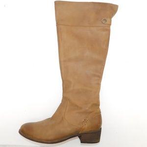 "Joyfolie ""Hadley"" Tall Tan Leather Boots"